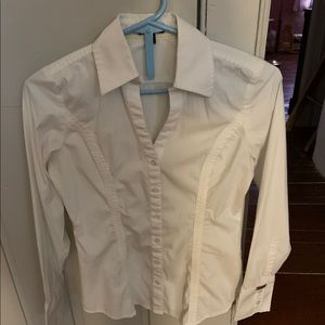 Express white button-down shirt